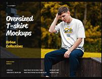 6 Oversized T-shirt Mockup Urban Style ( 1 free )