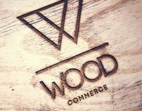 Woodcom logo & brand identity design