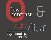 Verônica, typeface development.