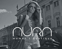 AURA women's boutique logo design