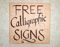 Free Calligraphic Signs