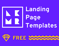 4 Landing Page Templates (Sketch)