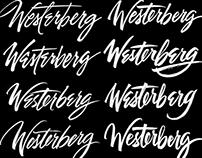 Hand lettering exploration for logo