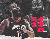 James Harden #13 | 54 Points