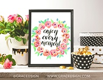 Enjoy Your Moment - Hand Painting & Lettering