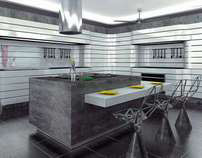 """The project is a modular kitchen """"FALLS"""""""