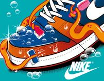 """Nike t-shirt April 2012 """"Octopus"""""""