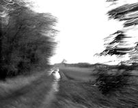 Running in the fields.