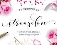 Strangelove calligraphy font family