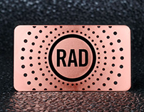 Awesome Custom Rose Gold Metal Business Card
