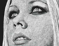 Celebrity Portrait Scratchboard — Avril Lavgine