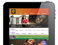 AFRO MUSIC CHANNEL SITE  VS_iPAD