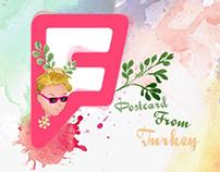foursquare postcard