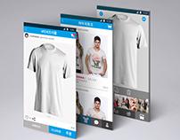 마이;티 app  UX / UI design 터치 세번이면 티셔츠가 뚝딱!