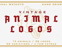 Vintage Animal Logo Pack