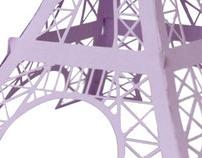 3D Paper Eiffel Tower
