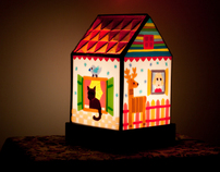 Winter night light lamp