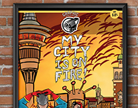 Layout & Logo: Graphic Brewing 'My City is on Fire'