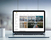 Redesign of the travel agency's website