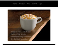 Zest Coffeehouse Website