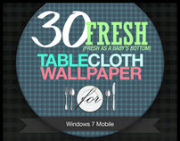 30 Fresh TableCloth Wallpaper for Windows 7 Mobile