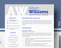 Professional Resume / CV Template for Ms Word - Albert