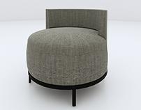 Revit family: HBF Encircle Lounge Chair