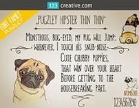 Handmade Handwritten font - Pugzley font family