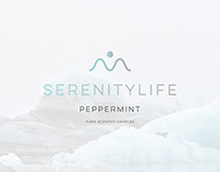 SerenityLife Handmade Candles Branding & Packaging