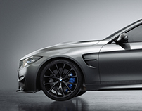 BMW M4 Studio Lighting Octane Render