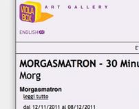WEBSITE CONCEPT - for contemporary art gallery Violabox