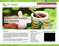Dr. Thakker's Ayurvedic Clinic Live Website