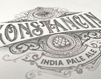 Konstancin - handlettered beer labels