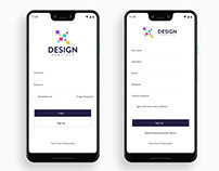 Login & Sign up page UI