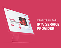 IPTV Service Provider | Website UI Design