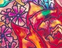 kaleidoscopics - painted glass
