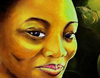 Digitally-made portrait