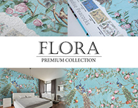Wallcovering collections «Flora» (wallpaper, frescoes)