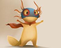 Character Concept: Super Axolotl