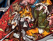 """Robert Repino's """"War with No Name"""" Poster (SOHO Press)"""