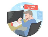 Web Developer (social media art)