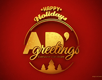AD Greetings Christmas gold