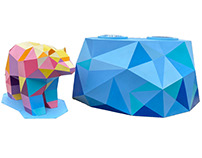 Polar Bear Recycling Art Sculpture