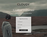Cloudy - landing page study
