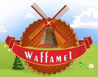 WAFFAMEL Logo and Website Design