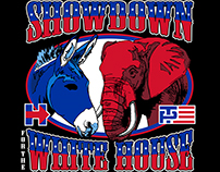 "Poster designs for ""Showdown to the White House""."