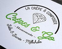 Création de logo pour crêperie à Fréjus, loolye labat