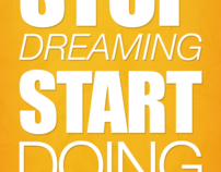 Typographic Poster - Motivation