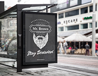 Advertising Mr. Brown Beard Grooming
