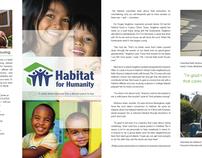 Habitat For Humanity Brochure